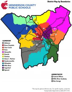 District map by boundaries