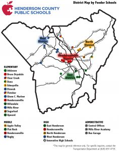 District map by feeder schools