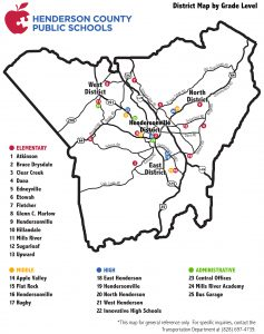 District map by grade level