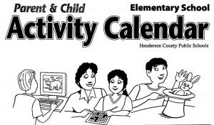 Parent and Child Activity Calendar