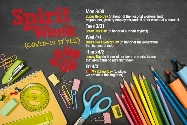 Spirit Week Covid-19 Style