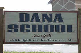 Dana Elementary School Sign