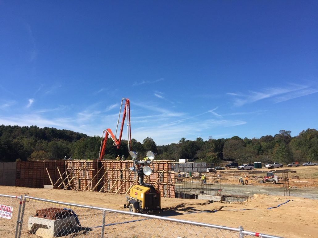 Construction of new Edneyville Elementary