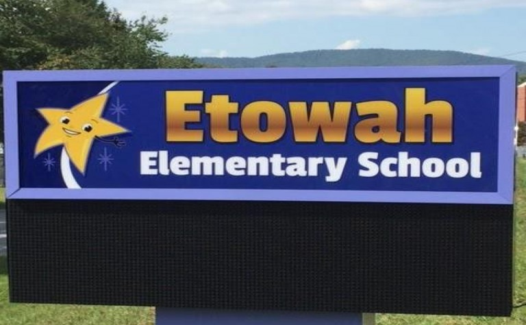 Etowah Elementary Welcome Sign