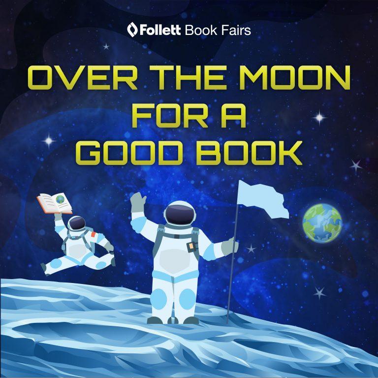 Astronaut reading book