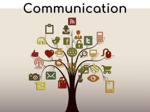 Tree depicting symbols of communication