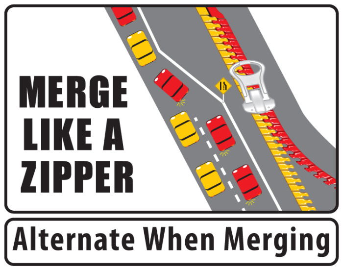 Merge Like a Zipper: Alternate when merging!