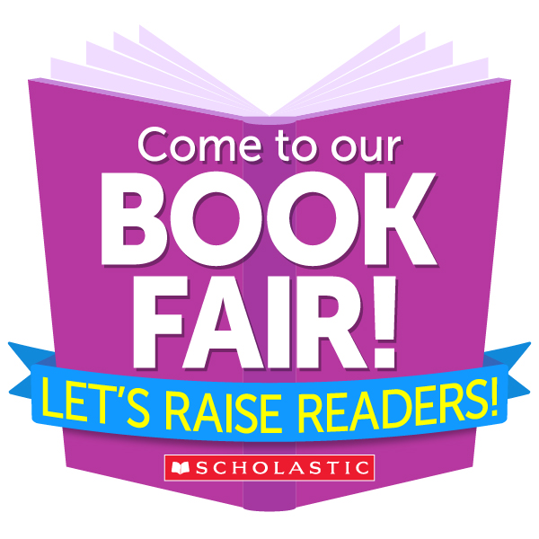 Come to our book fair book. Let's raise readers logo.