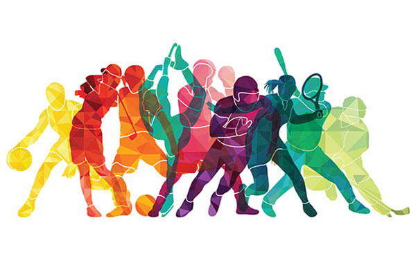 Represents the diversity of Flat Rock athletics.