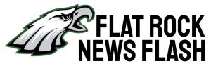 Eagle logo with text that says Flat Rock News Flash