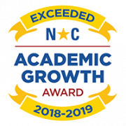 NC Academic Growth Award for Exceeded Growth 2018-2019
