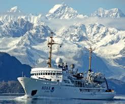 white ship blue water