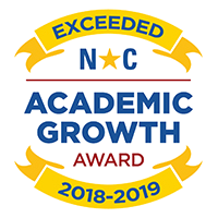 NC Academic Growth Award for Exceeding Growth 2018-2019