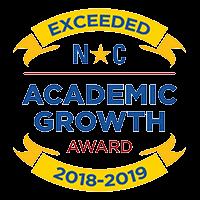 NC Academic Growth Award for Exceeding Growth 2018-2019