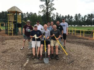 The Connect Group cleaning up the playground