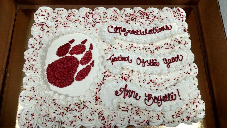 Mrs. Boyette's cake