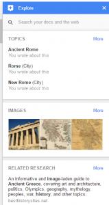 Google Explore Screen Sample