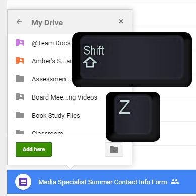 Shift Z Keys to shortcut in Drive