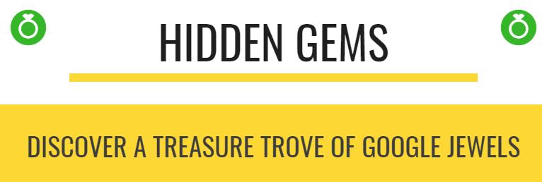 Hidden Gems in Google logo