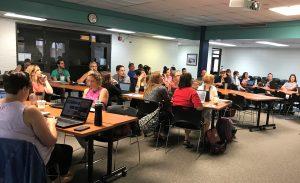K-12 Arts teacher attend workshop