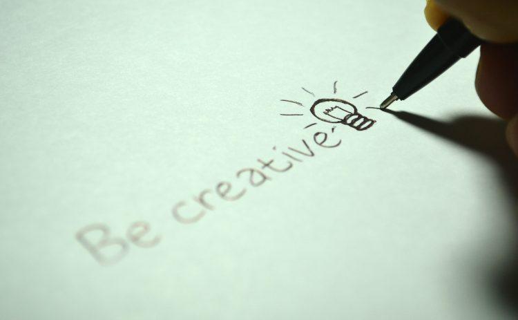 Handwritten Message: Be Creative