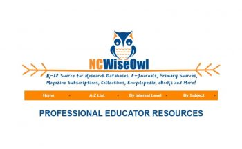 NCWiseOwl logo with Professional Educator Resources Heading