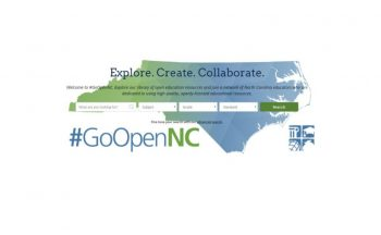 #GoOpenNC logo with search fields