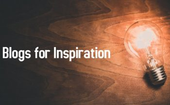 """Blogs for Inspiration"" with light bulb"