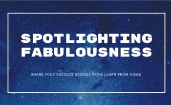 "Headline photo titled ""Spotlighting Fabulousness"""