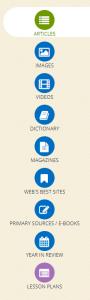 List of Britannica Search Term Resources