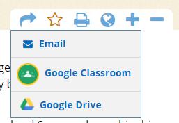 Save to Google Classroom
