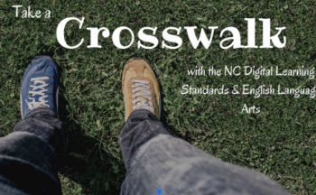 Take a Crosswalk header with view of shoes in grass