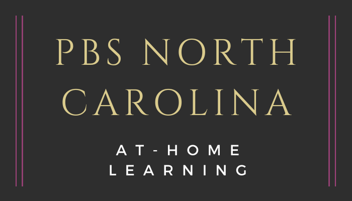 Title slide with PBS North Carolina At-Home Learning title