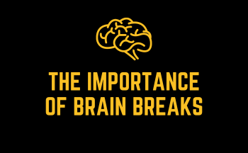 The Importance of Brain Breaks with a brain image