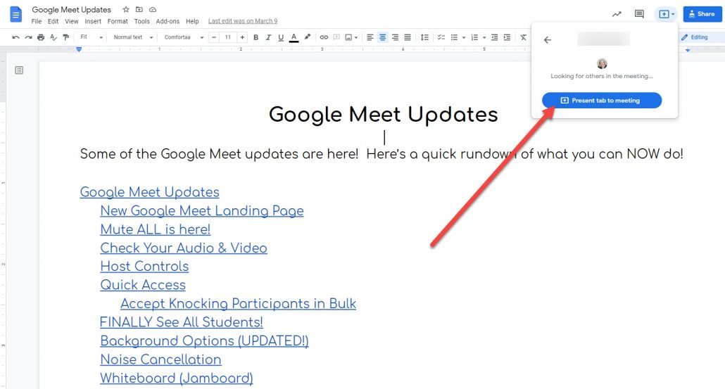 Present from a Google Doc