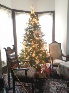 Christmas Tree in Farmhouse Parlor