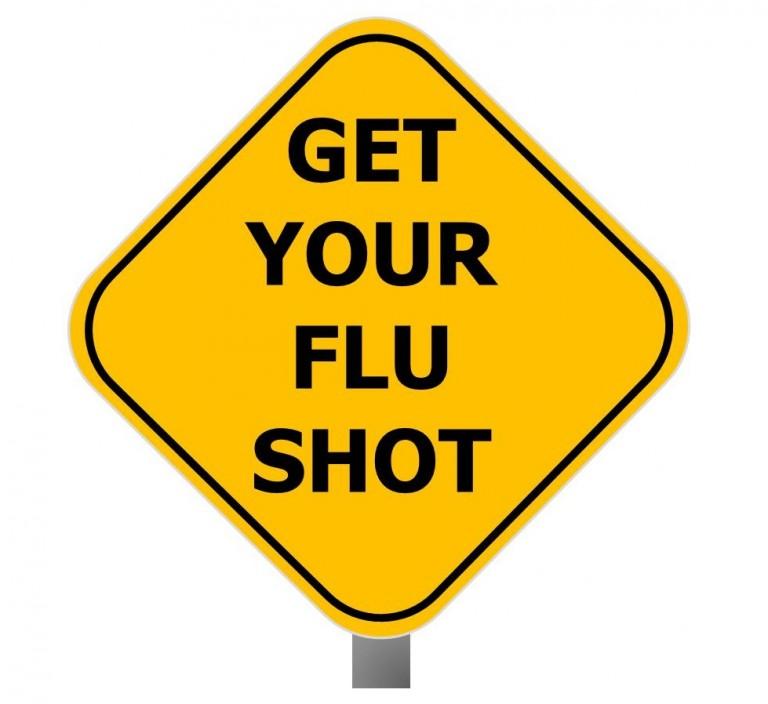 Get Your Flu Shot sign