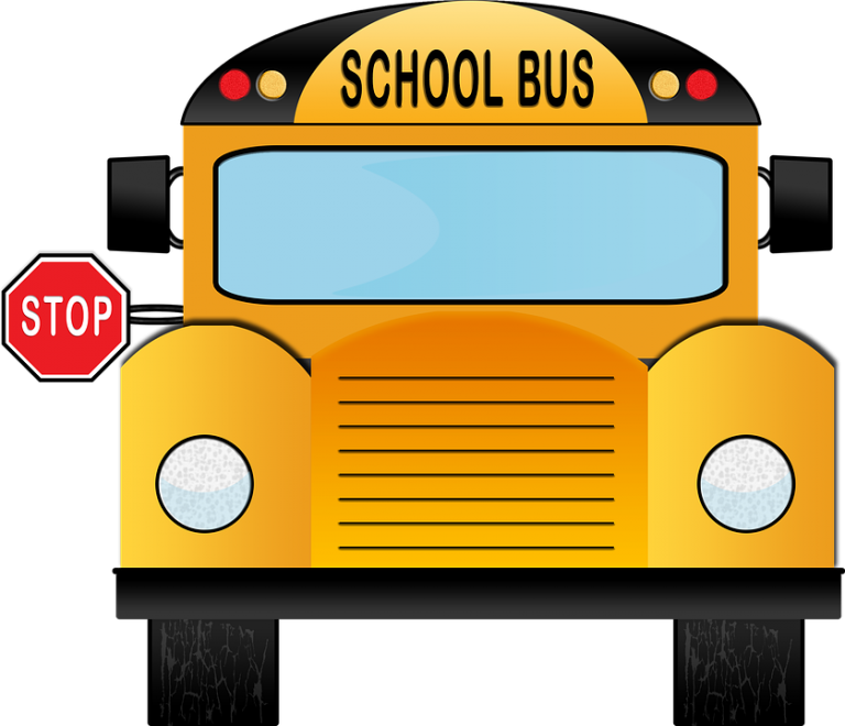 School Bus stopping