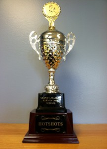 Hot Shot Trophy for the classroom with the most Boxtops gathered