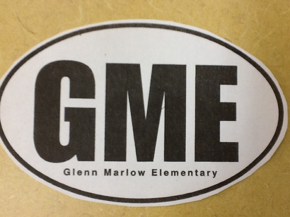A photograph of the Glenn Marlow Elementary magnet. It says