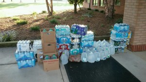 Water collection for Hurricane Harvey relief