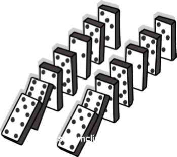 Photo of falling dominoes