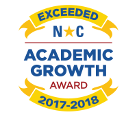 Award for exceeding academic growth in NC for 2017-18