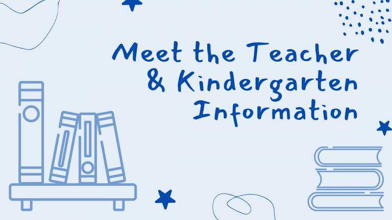 Meet the Teacher and Kindergarten Information Banner