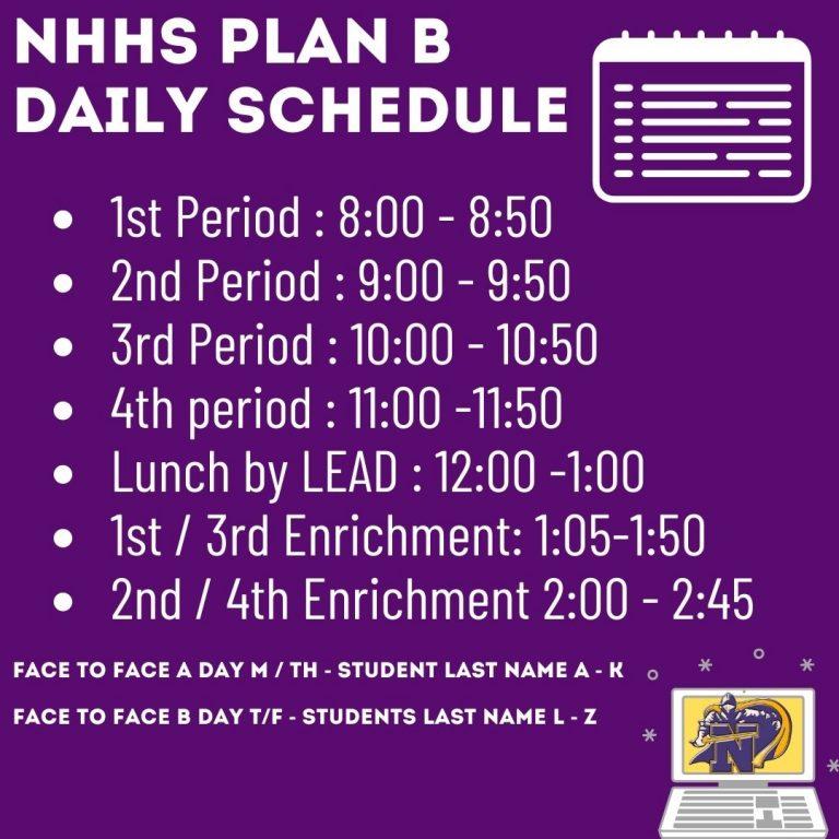 NHHS Plan B Daily Schedule