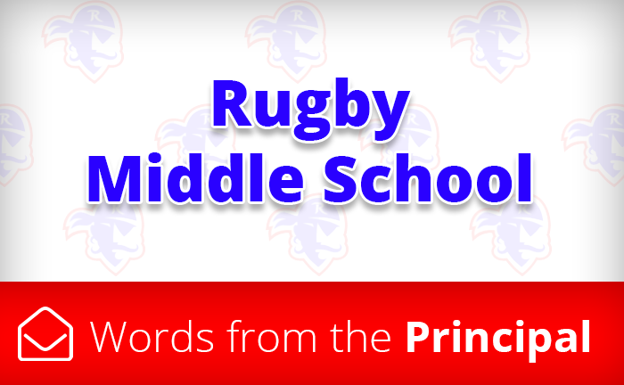 Rugby words from the principal