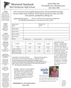 Baby Ad Order Form