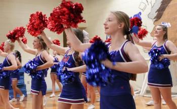 West cheerleaders at Glenn C. Marlow
