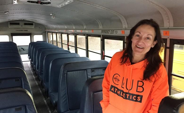 Bus driver Fiona Winn
