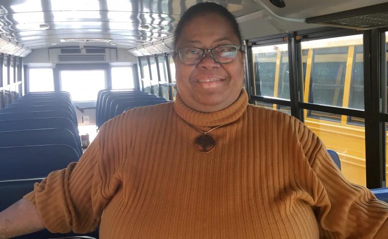 Bus driver Sheila Benjamin